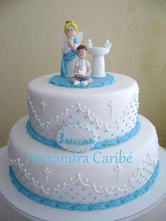 Bolo batismo para Lucas - Baptism cake for Lucas by Alexandra Bolos Artísticos, via Flickr