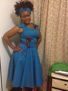 shweshwe 2017 Archives - style you 7 Traditional Dresses Images, Sotho Traditional Dresses, Traditional Wedding Attire, African Traditional Dresses, African Attire, African Wear, African Fashion Dresses, African Dress, African Style