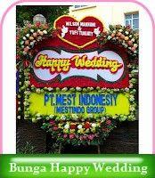 Pusat penjualan dan pengiriman karangan bunga ucapan selamat menempuh hidup baru, happy wedding, rangkaian bunga segar, bunga papan, bunga s...