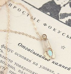 Enameled Gold and Opal Lavaliere | Erica Weiner
