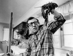 RDB Holdings & Consulting 11 x 14 in. Woody Allen Signed Annie Hall Alvy Singer B&W Photo Horizontal with Lobster- Beckett Holo Woody Allen, Vicky Christina Barcelona, David Chang, Comedy, Wit And Delight, Diane Keaton, Film Stills, Film Director, Mixtape
