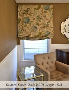 DIY Tutorial: How To Make Lined Relaxed Roman Shades