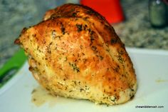Oven Roasted Turkey Breast with Herbs and Wine - Chew Nibble Nosh Oven Roasted Turkey Breast 6 - Chew Nibble Nosh Turkey Brest Recipe, Turkey Breast Recipe Oven, Roast Turkey Breast, Turkey Rub, Turkey Dishes, Turkey Recipes, Chicken Recipes, Turkey Leftovers, Oven Roasted Turkey