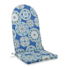 Adirondack Cushion with Ties in Circles - BedBathandBeyond.com