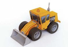 Simple Wheel Loader Free Construction Vehicle Paper Model Download