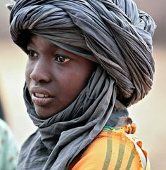 Indigenous Berber, the Blue men, with the eponymous blue cloth veil