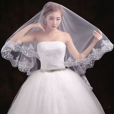 Bride Veils White Ivory Applique Tulle 3 meters veu de noiva long cathedral wedding veil bridal accessories lace bridal veil