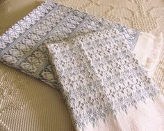 """Swedish Weave """"Fun With One"""" baby blankets. Sandra's Stitches design."""