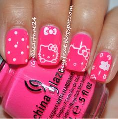 49 Best Hello Kitty Nail Art Designs Images Hello Kitty Nails
