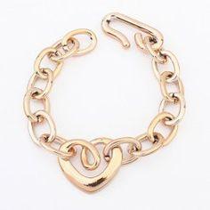 $3.90 Simple Openwork Heart Shape Women's Choker Necklace