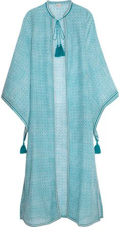 Talitha Fatima printed cotton and silk-blend coverup