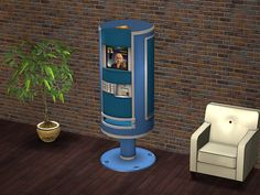 Smaller Sellafone Gadget Kiosk for The Sims 2 Sims 2, Sims Four, Ice Cream Vending Machine, Soda Vending Machine, Styling A Buffet, Buy Business, Kiosk, The Originals, Gadget