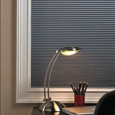 "Bali DiamondCell Midnight 3/8"" Single Cell Cellular Shades - Blackout  #BGPickMe  Wish I could get gray."