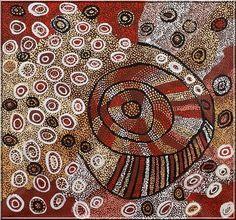 J'ai commencé à découvrir et à apprécier les peintures aborigènes d'Australie par les reproductions d'oeuvres figurant sur la page d'en-tête des aventures de Bony , pisteur métis...