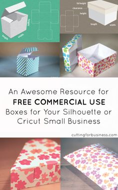 Creating Your Own Paper Boxes for Silhouette Products by cuttingforbusiness.com