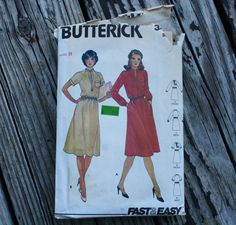 Butterick 3476 1970s 70s Midi Dress Vintage by EleanorMeriwether