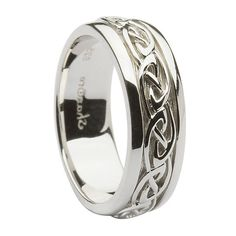 Celtic Knot Silver Wedding Ring