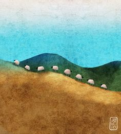 Sheep - A gallery-quality illustration art print by Jago Silver for sale.