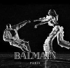 Kanye West e Joan Smalls estão na nova campanha da Balmain - será que Kim Kardashian curtiu?