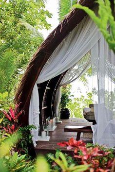 A typical nipa beach house...Dedon Island, Surigao , Philippines