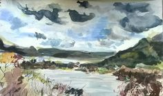 View from Ashness Brigde, Lake District - JR16 - Watercolour