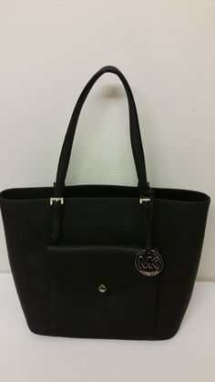 4e2b85e32cfb MICHAEL Michael Kors Jet Set Large Leather Multi-Function Tote Black RRP  £240 Women's