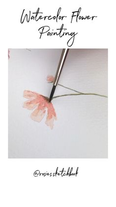 Watercolor Floral Painting Watercolor flower painting The post Watercolor Floral Painting appeared first on Diy Flowers. Watercolor Flowers Tutorial, Watercolour Tutorials, Flower Tutorial, Floral Watercolor, Watercolor Paintings For Beginners, Watercolor Video, Watercolor Techniques, Drawing Techniques, Watercolour Paintings