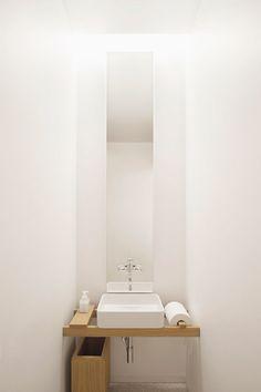 Lave main // toilettes // Plan chêne + vasque à poser
