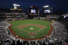 Night scene at Citi Field, home of the New York Mets.