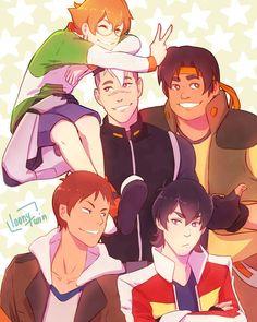 loony@ Anime CA в Твиттере: «the paladins !(•̀ᴗ•́)و ̑̑ #voltron #shiro #keith…