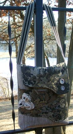 Upcycled Handbag by Onourway on Etsy, $42.00
