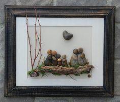 Pebble Art Rock Art Pebble Art Flowers Rock Art by CrawfordBunch Beach Rock Art, Beach Rocks, Flower Petals, Flower Art, Art Flowers, Beach Crafts, Diy And Crafts, Family Gifts, Family Family