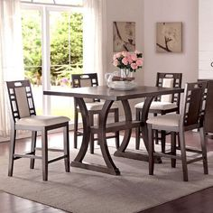 Found it at Wayfair - Alison 5 Piece Counter Height Dining Set