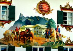 Germany is full of the wonderful murals, especially in Bavaria, where it became a traditional folk art