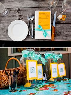 """Great idea - a """"wishing station."""" Ask guests to write down their wishes for your marriage at your 1st, 5th, 10th...anniversaries. Then, you can't open the jar to read the wishes until that time comes!"""