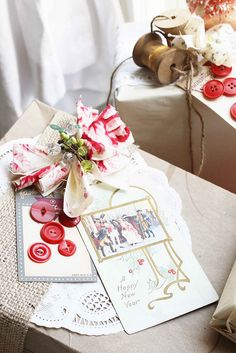 holiday gift wrap by gathering spriggs, via Flickr