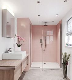Bathroom interior design 31173422408755733 - 6 Pink bathrooms that will make you wish for spring to come faster – Daily Dream Decor Source by Small Bathroom, Bathrooms Remodel, Bathroom Interior Design, Bathroom Decor, Home, Interior, Bathroom Design, Pink Bathroom, Bathroom Layout