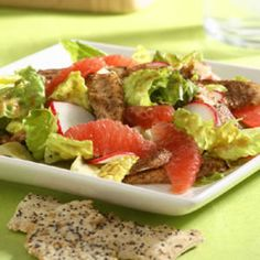 Grapefruit and Chicken Satay Salad