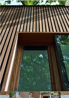 Houten latjes. Cladding Design, House Cladding, Timber Cladding, Facade House, Architecture Durable, Wood Architecture, Minimalist Architecture, Modern Wood House, Timber House
