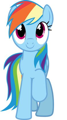 """Rainbow Dash Vector - Smile Parade with the Mane 6 from """"A Friend in Deed"""""""