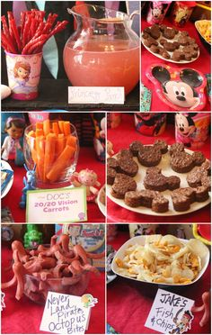 Cute & Easy Disney Junior Party Food Ideas