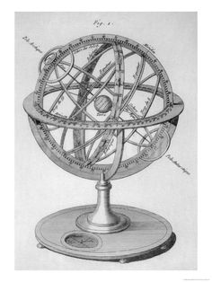 An Armillary Sphere Giclee Print by Benard at Art.com