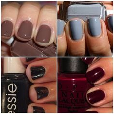 Great guide to the best fall nail colors #ManiMonday