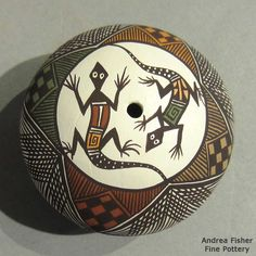 Aboriginal Culture, Aboriginal Art, Native American Pottery, Native American Art, Painted Gourds, Painted Rocks, Pebble Painting, Stone Painting, Pueblo Pottery