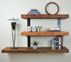 mensola ripiani libreria bacheca pensile piattaia rustico scaffale legno ferro