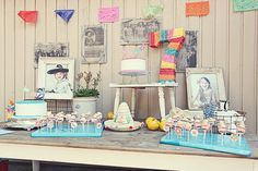 Not digging the mexican fiesta, but the idea of having a dessert table, which includes a bunch of different homemade cakes, instead of a $500 wedding cake.. love.
