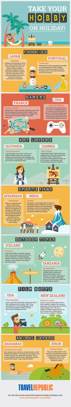 Take Your Hobby on Holiday #infographic #Travel