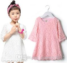 2014 New Fashion Korean Children Beautiful White Girls Lace Dress Princess Dresses MOQ Quality style Girls Lace Dress, Baby Dress, Flower Girl Dresses, Girls Dresses, Kids Outfits Girls, Kids Girls, Lolita Fashion, Teen Fashion, Princess Dress Kids