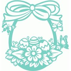 Silhouette Design Store - View Design #77440: pretty easter egg