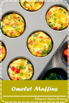 overhead photo of omelet muffins in a muffin panYou can find Egg muffins and more on our website.overhead photo of omelet muffins in a muffin pan Breakfast Dishes, Healthy Breakfast Recipes, Brunch Recipes, Healthy Snacks, Breakfast Dessert, Egg Cupcakes Breakfast, East Breakfast Ideas, Breakfast In Muffin Tins, Meal Prep Breakfast